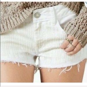 AEO | sequin jean cut off shorts size 2